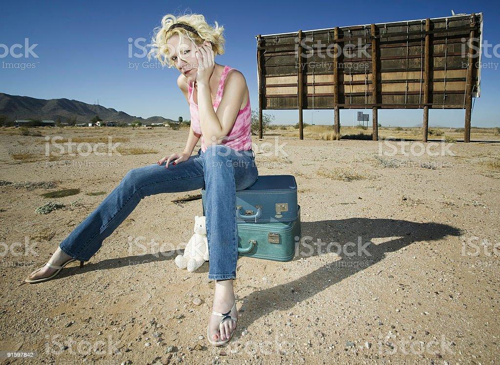 Woman waiting royalty-free stock photo