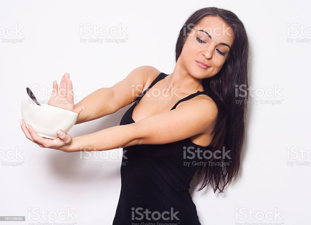 Woman wants to go on a diet. royalty-free stock photo