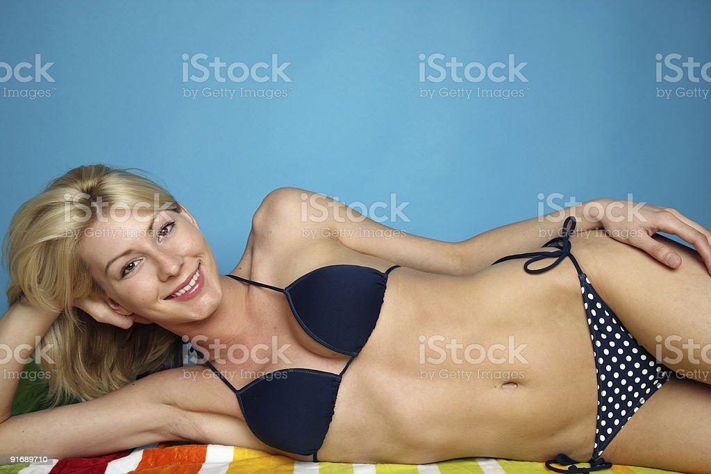 Woman wearing a bikini royalty-free stock photo