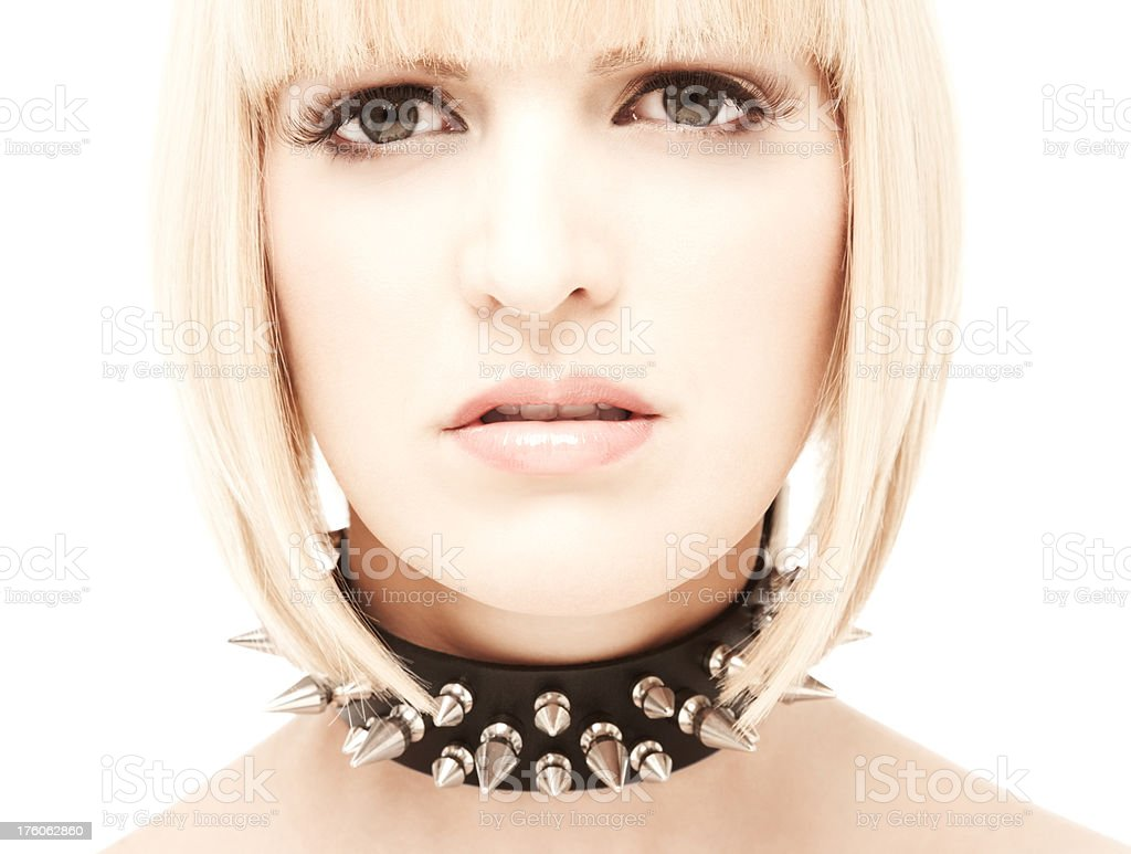 Woman Wearing Collar royalty-free stock photo