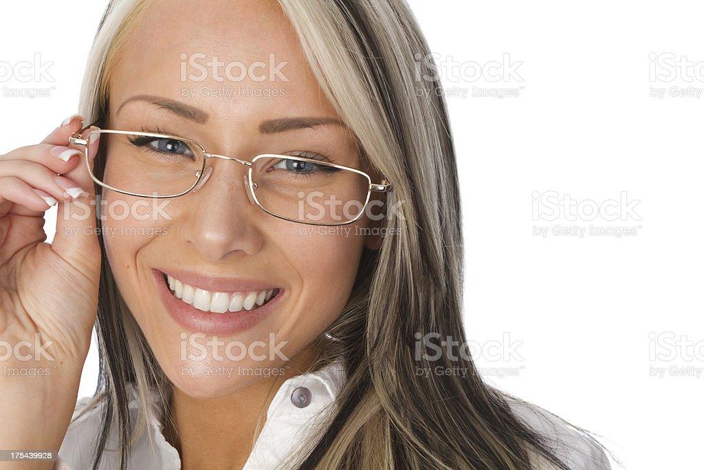 woman wearing eyeglasses royalty-free stock photo
