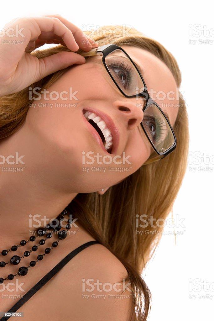 Woman / Wearing Glasses stock photo