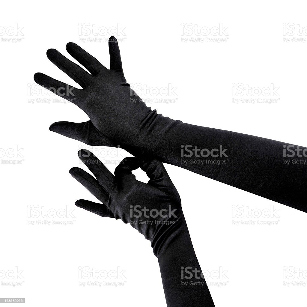 Woman wearing gloves royalty-free stock photo