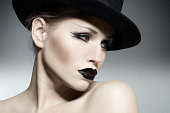 Woman Wearing Gothic make-up