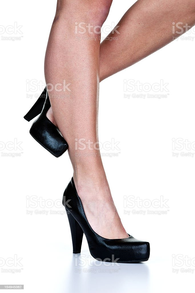 Woman wearing high heels stock photo