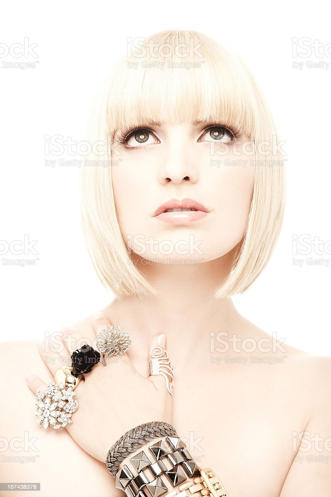 Woman Wearing Jewelery royalty-free stock photo