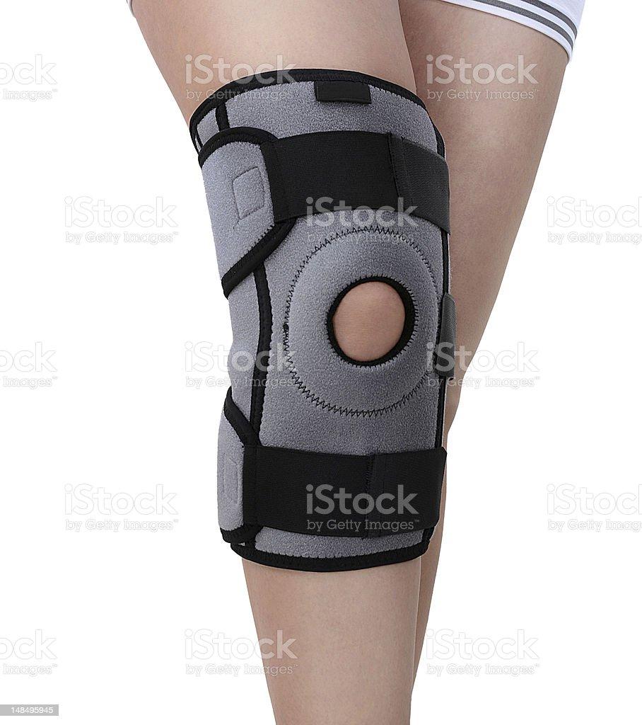 Woman Wearing Knee Brace royalty-free stock photo