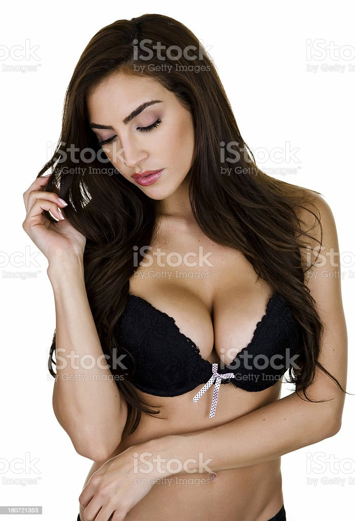 Woman wearing lingerie royalty-free stock photo