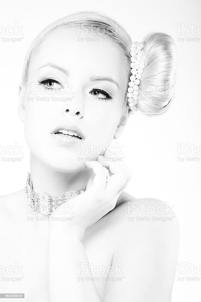 woman wearing necklace royalty-free stock photo