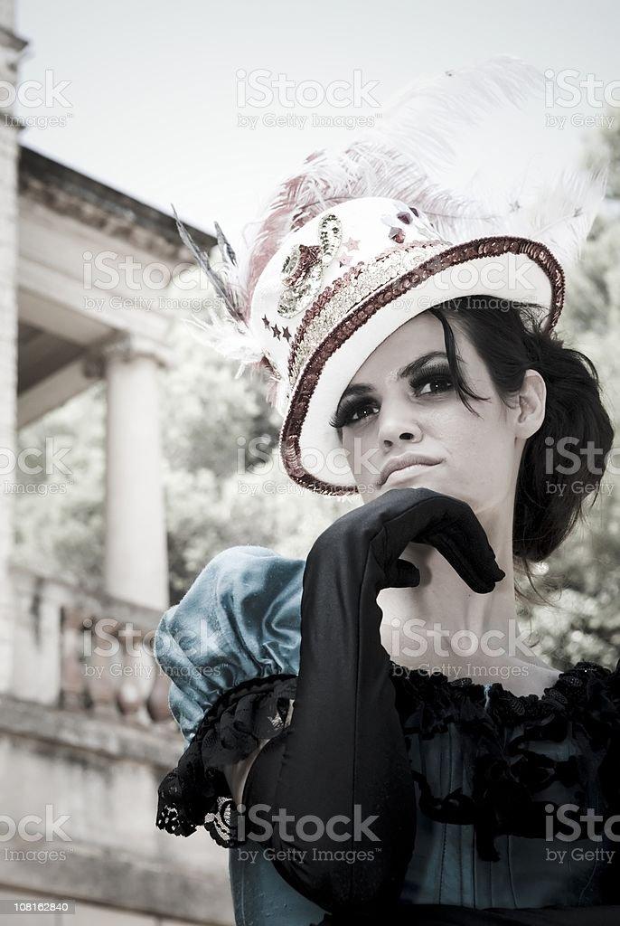 Woman Wearing royalty-free stock photo