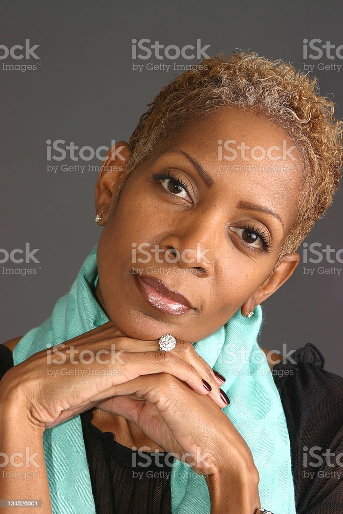 Woman Wearing Scarf royalty-free stock photo