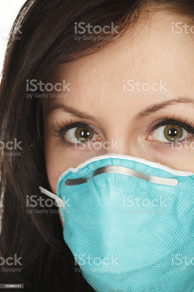 Woman Wearing Surgical Mask royalty-free stock photo
