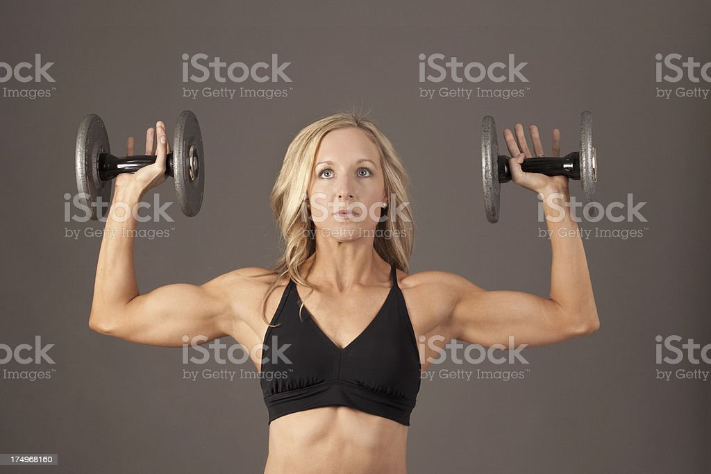 Woman Weight Lifter royalty-free stock photo