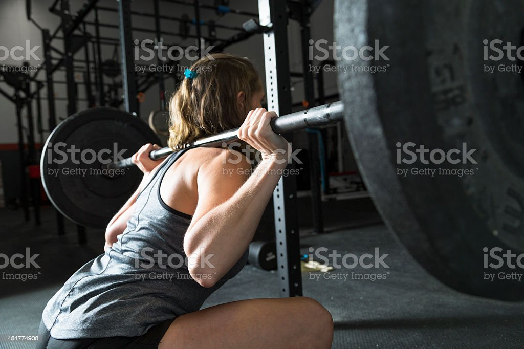 Woman Weight Lifting stock photo