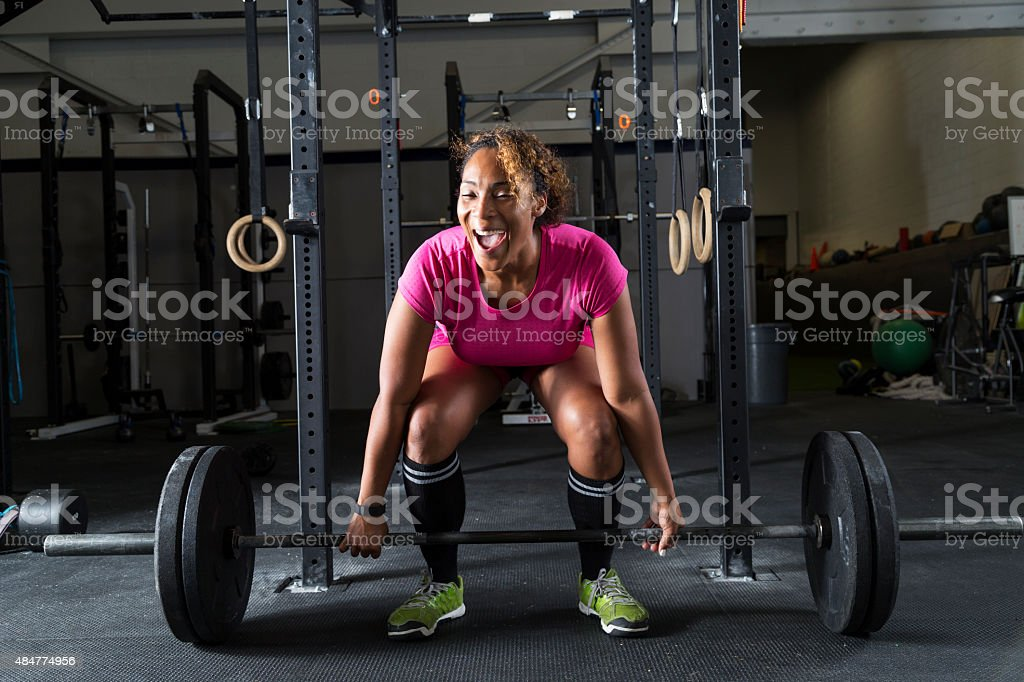 Woman Weight Lifting stock photo