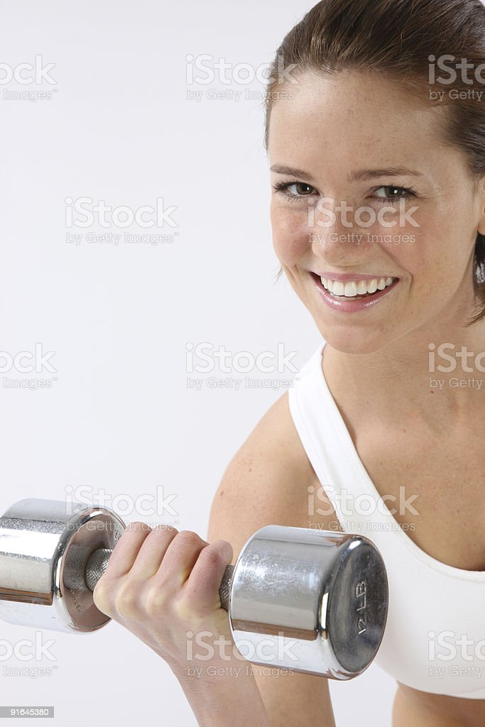 Woman weight lifting royalty-free stock photo