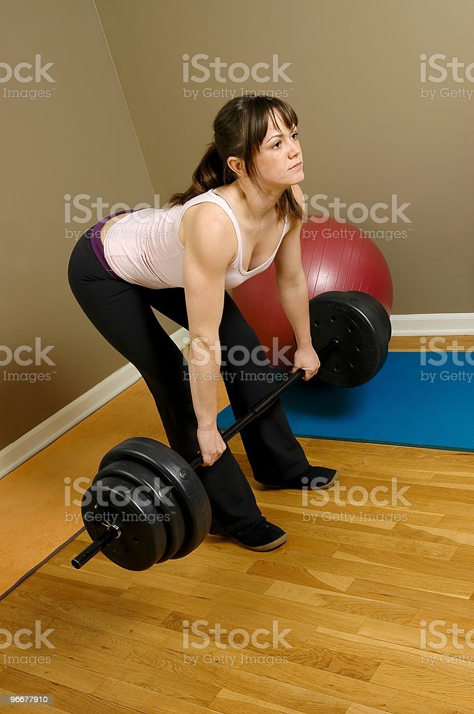 Woman Weightlifting royalty-free stock photo