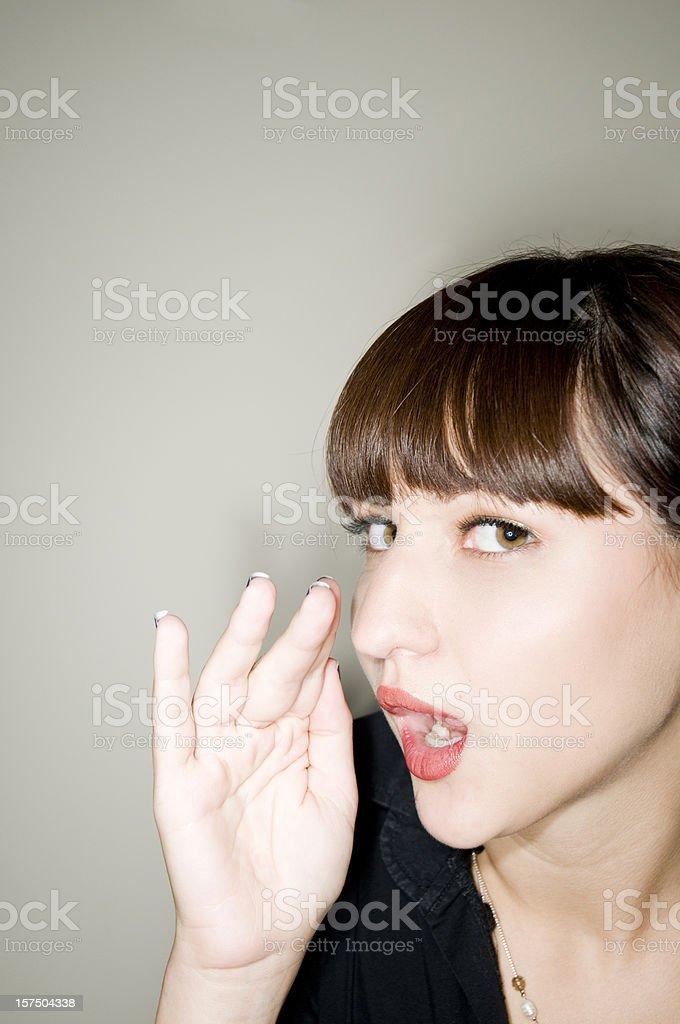 Woman Whispering, Gossip, Secret stock photo