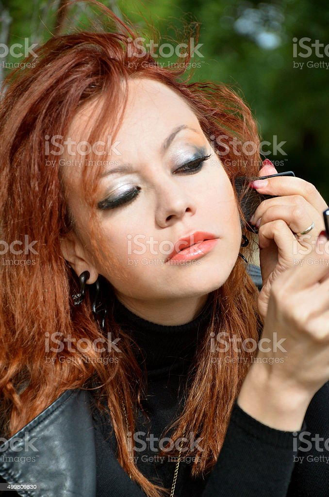 woman who deals Makeover stock photo