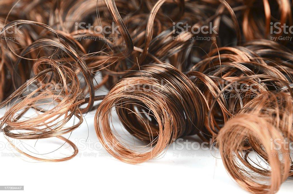 Woman wig stock photo