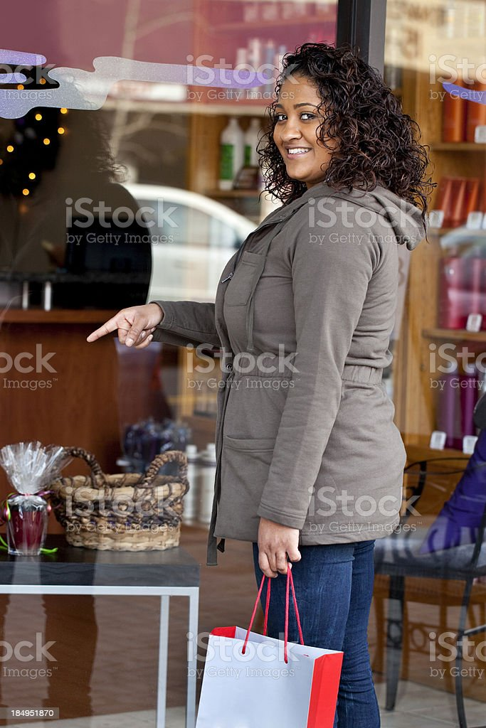 Woman Window Shopping royalty-free stock photo