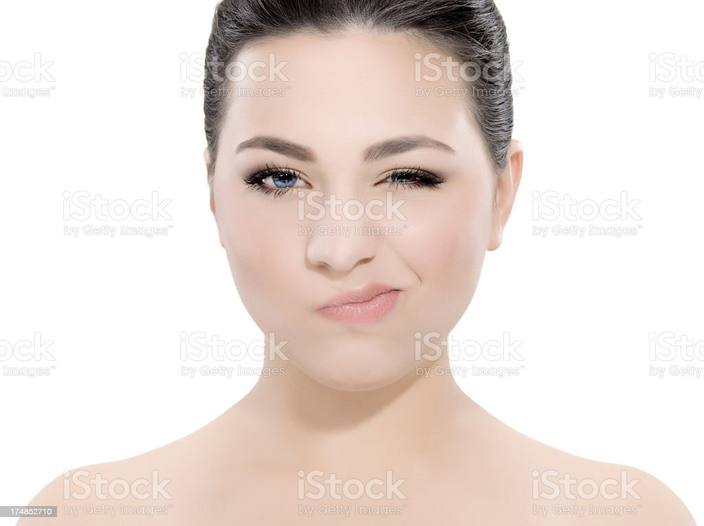 woman winking royalty-free stock photo