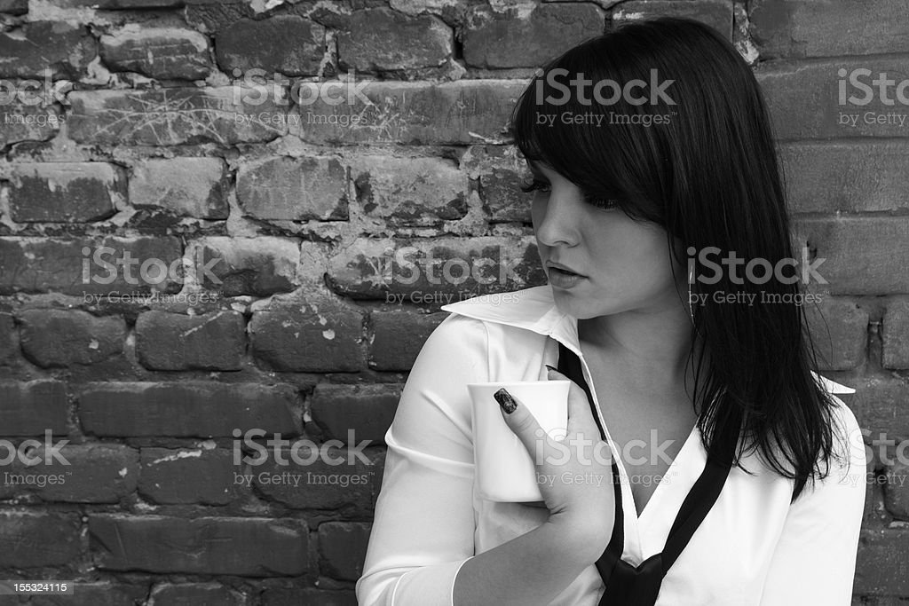 woman with a cup of coffee royalty-free stock photo