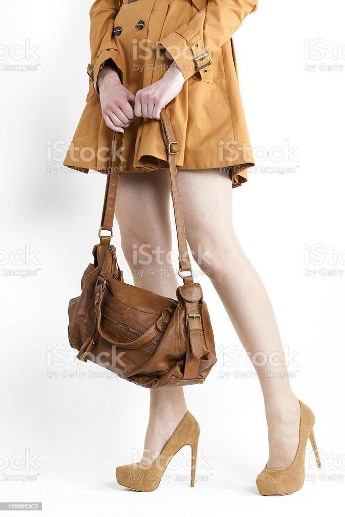 woman with a handbag royalty-free stock photo