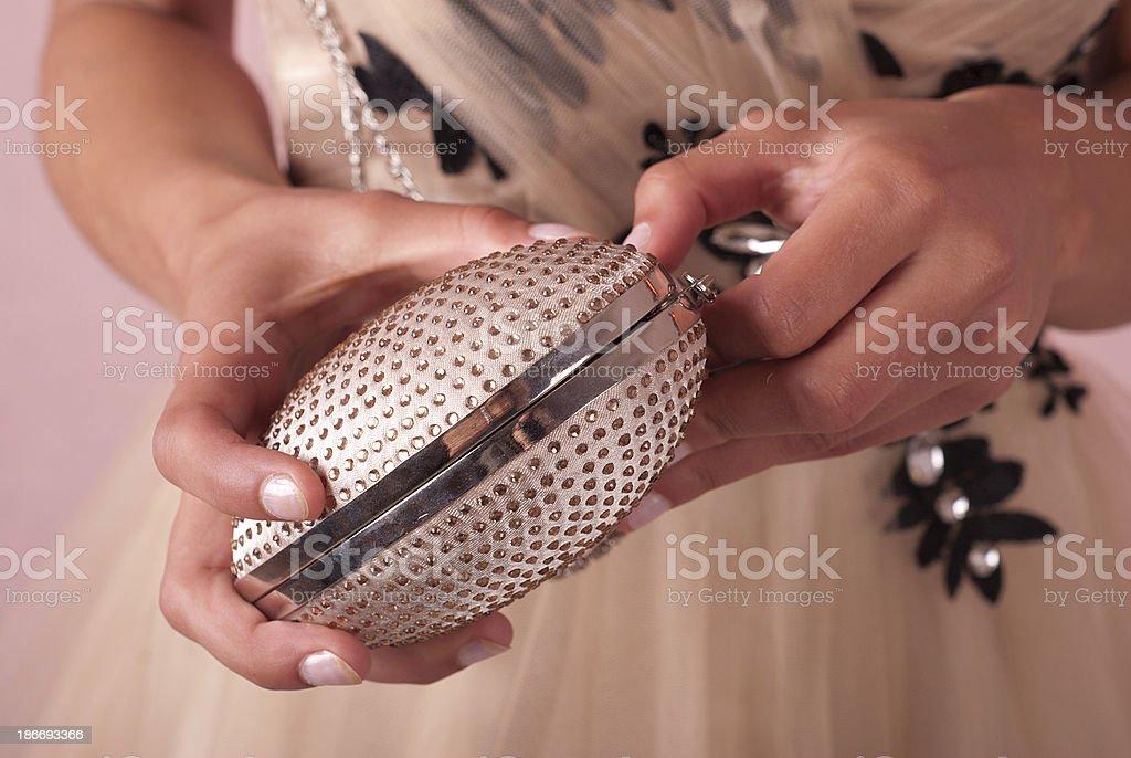 Mujer con handbag foto de stock libre de derechos