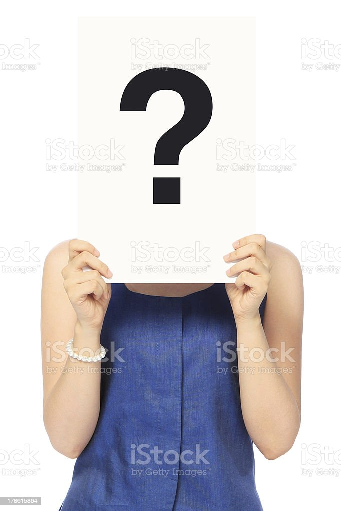 Woman With A Question stock photo