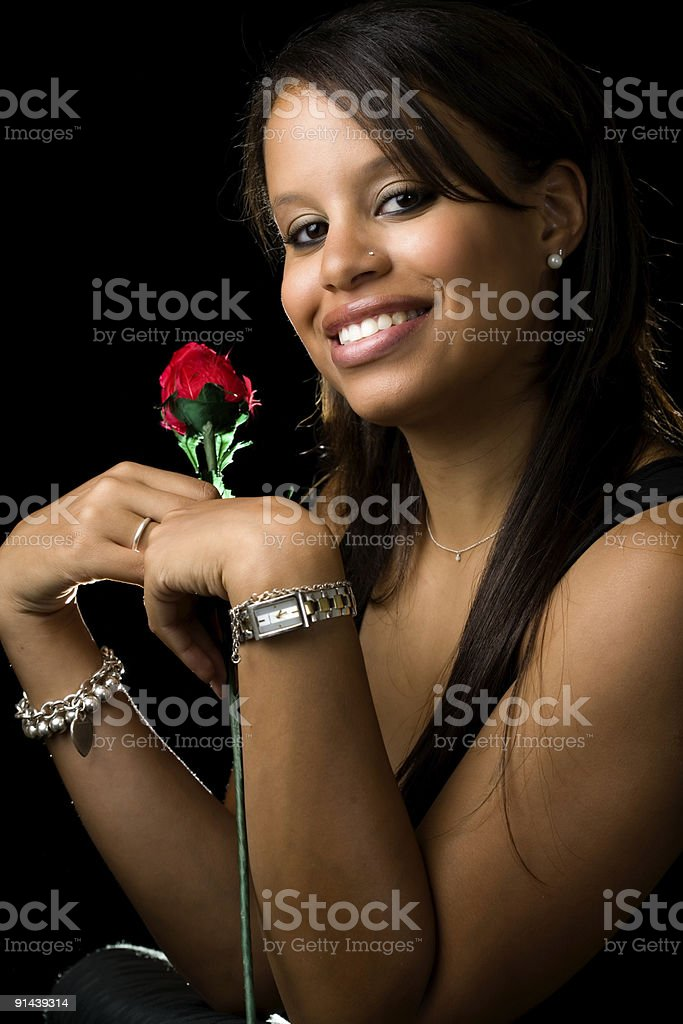 Woman with a rose royalty-free stock photo