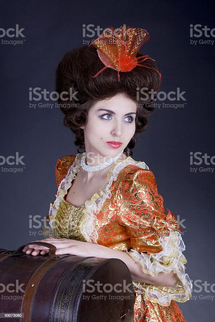 Woman with a sac voyage royalty-free stock photo