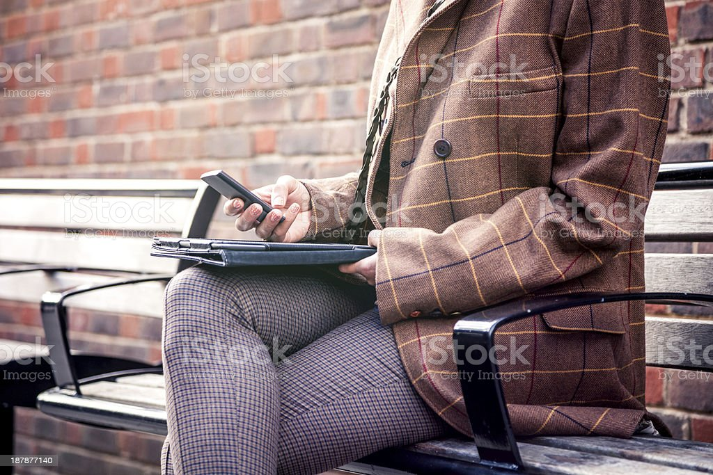 Woman with a tablet royalty-free stock photo
