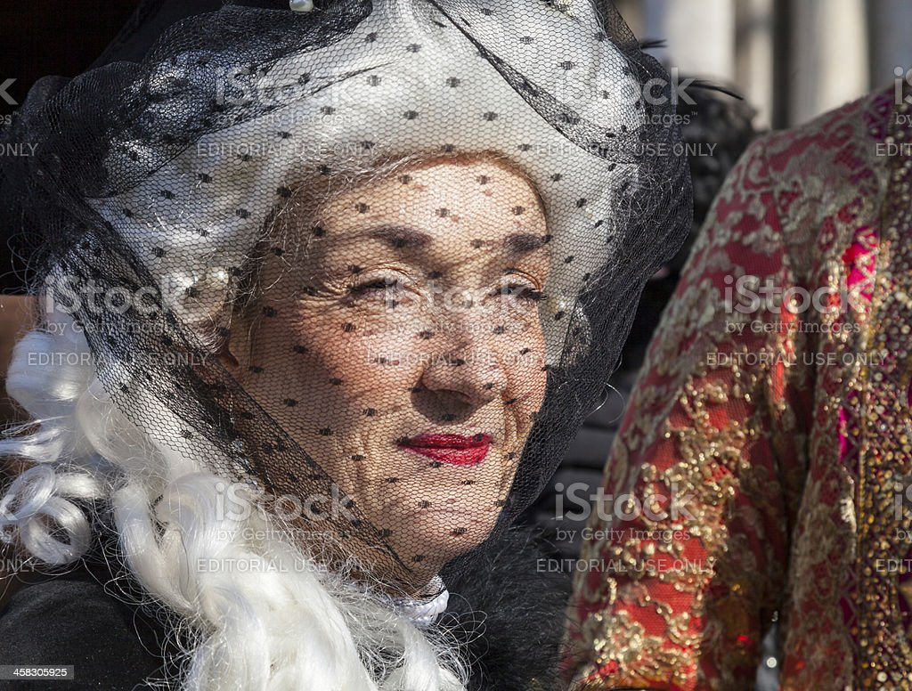 Woman with a Veil royalty-free stock photo