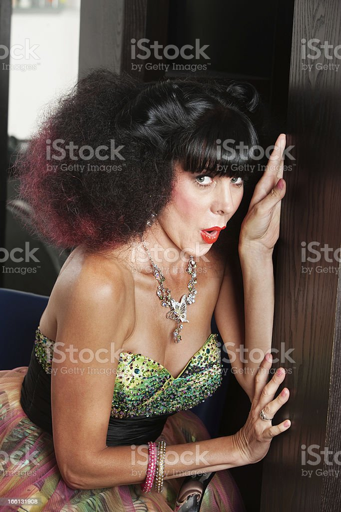 Woman with Afro royalty-free stock photo