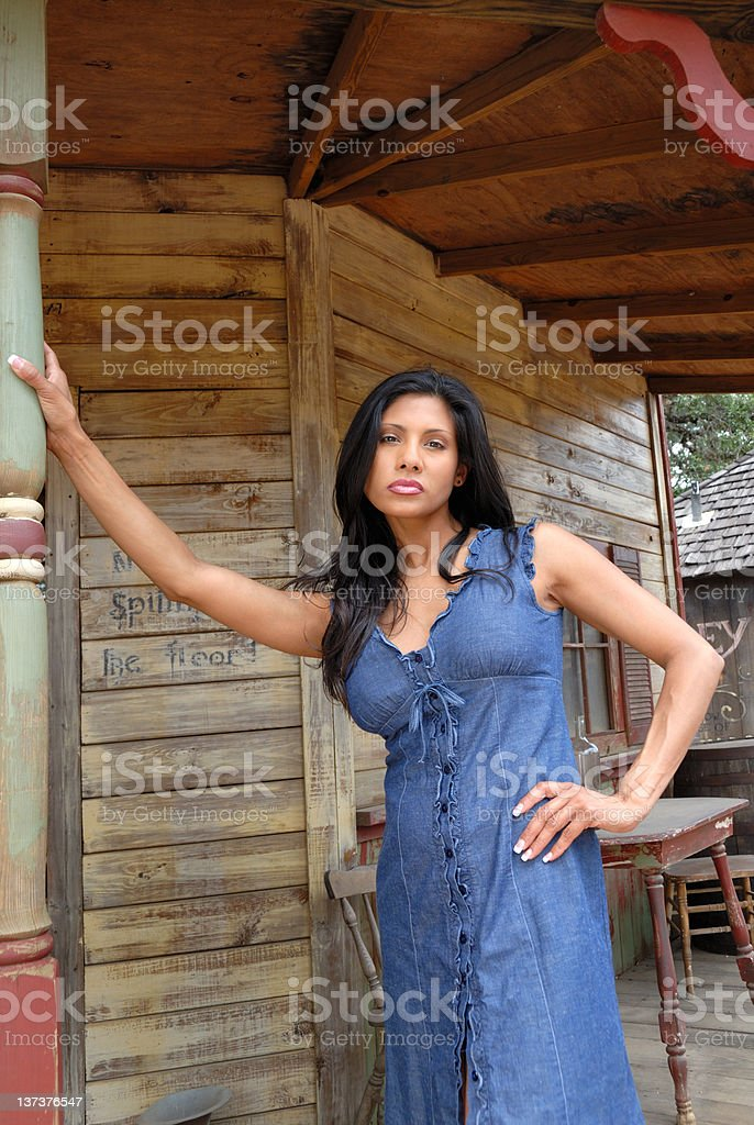 Woman With an I Dare You Attitude stock photo