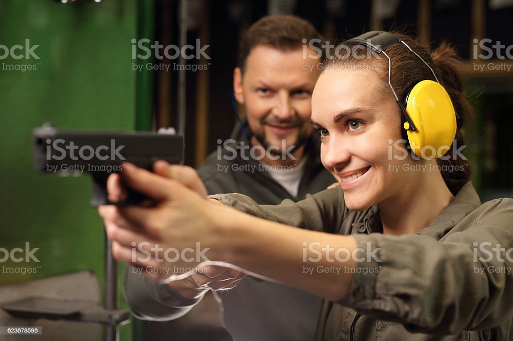 Woman with arms. stock photo