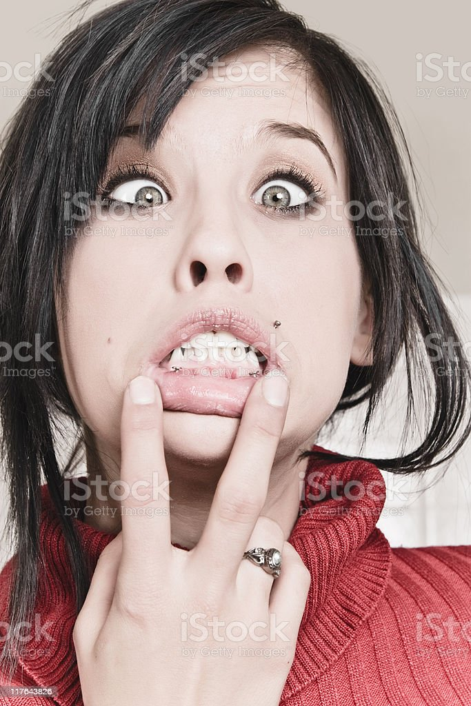 Woman With Attitude royalty-free stock photo