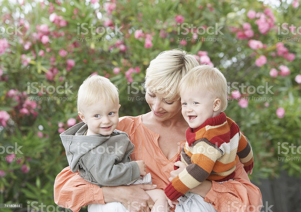 Woman with baby boys royalty-free stock photo