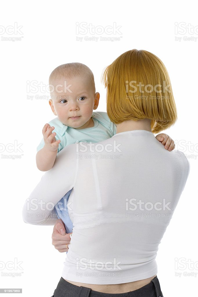woman with baby royalty-free stock photo