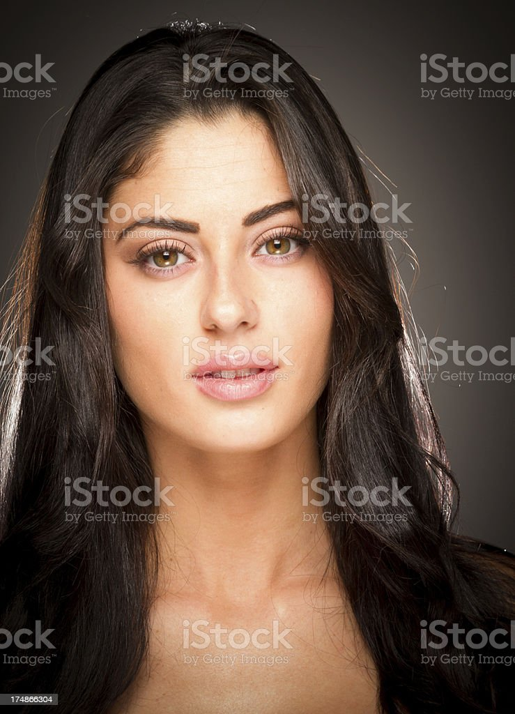 Woman With Beautiful Eyes royalty-free stock photo
