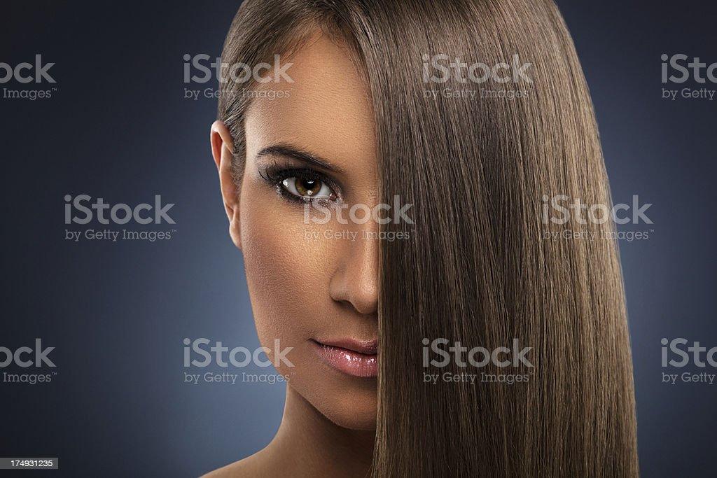 Woman with beautiful hair stock photo