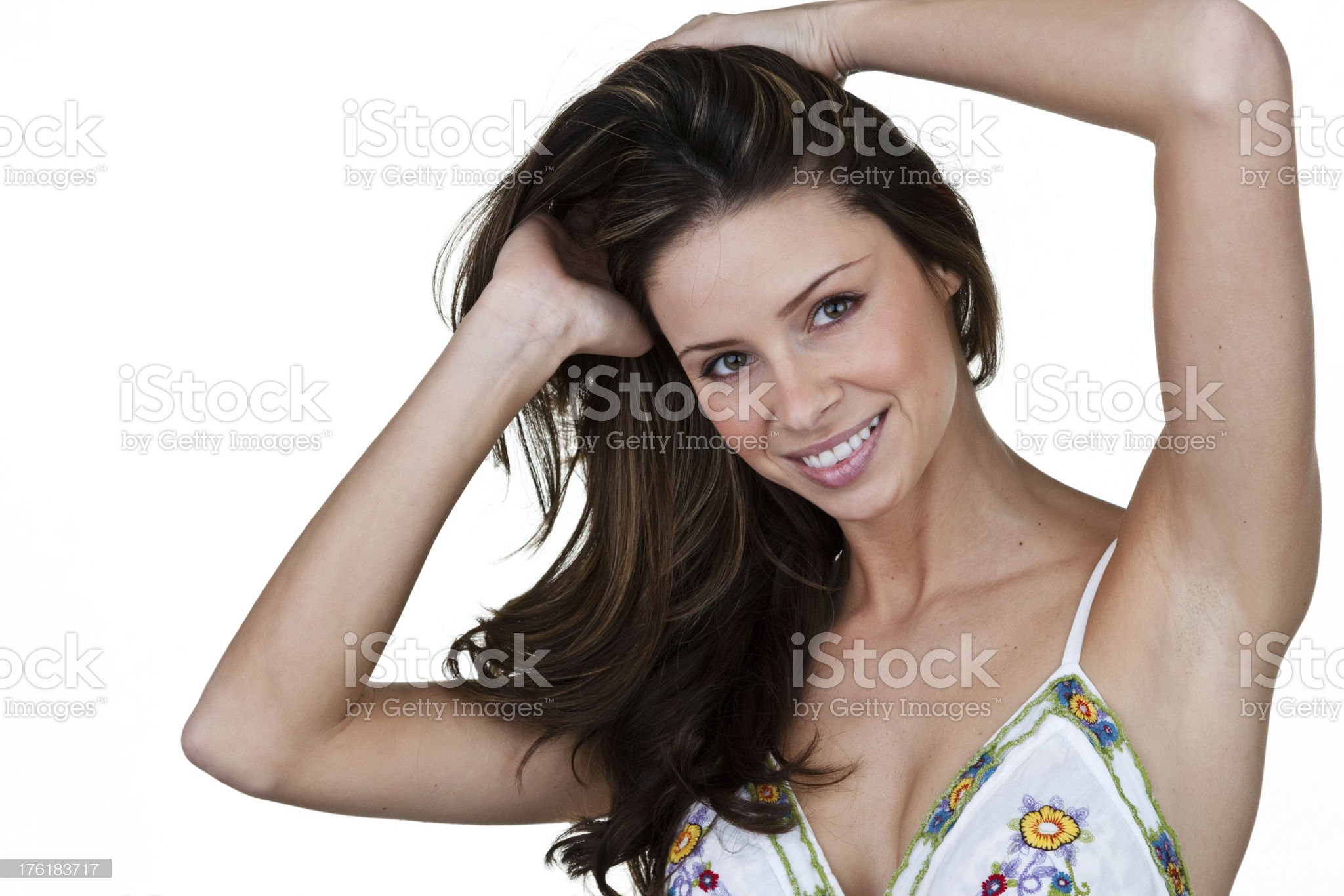 Woman with beautiful hair royalty-free stock photo