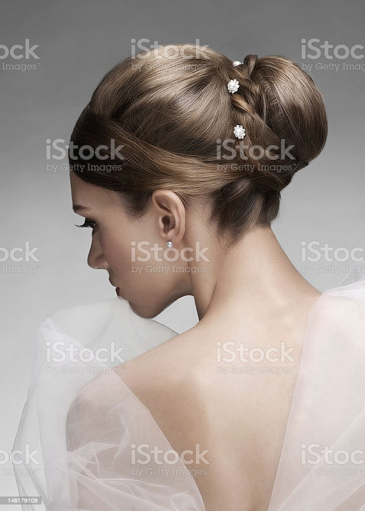 Woman with beautiful hairstyle royalty-free stock photo