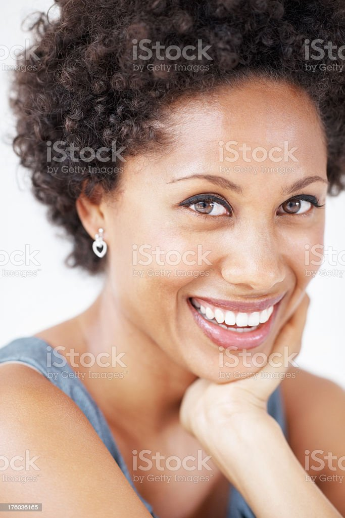 Woman with beautiful smile stock photo
