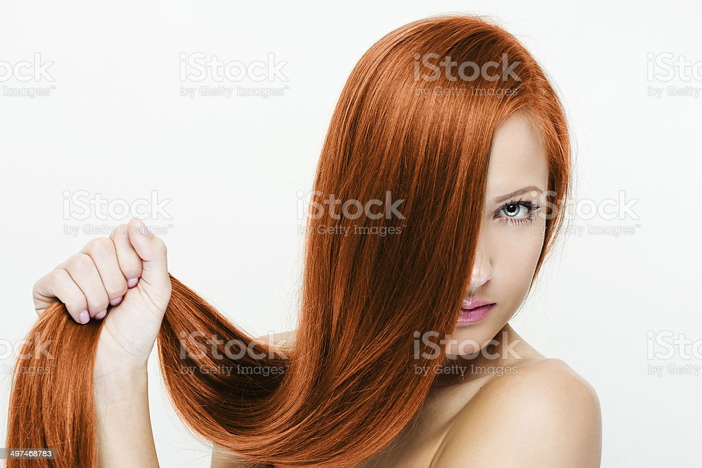 Woman with beauty long hair stock photo