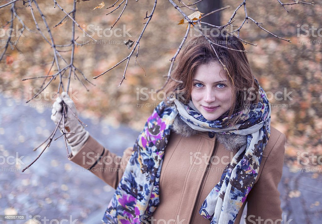 Woman with blue eyes royalty-free stock photo