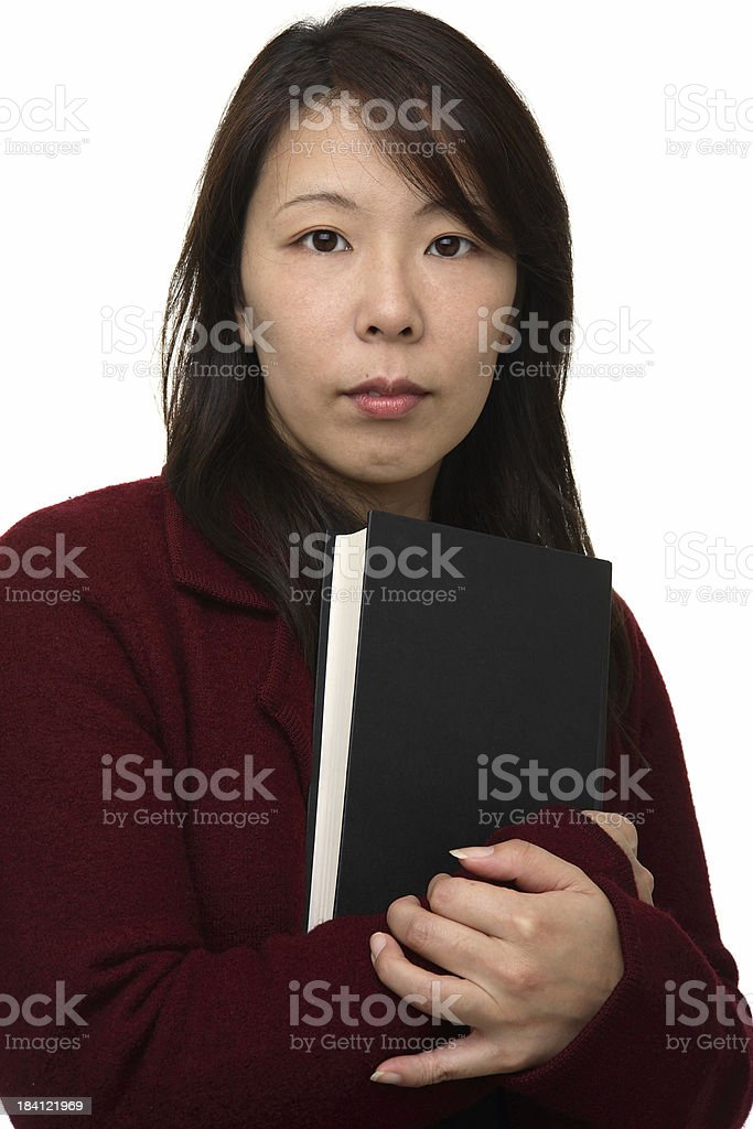 Woman with book royalty-free stock photo