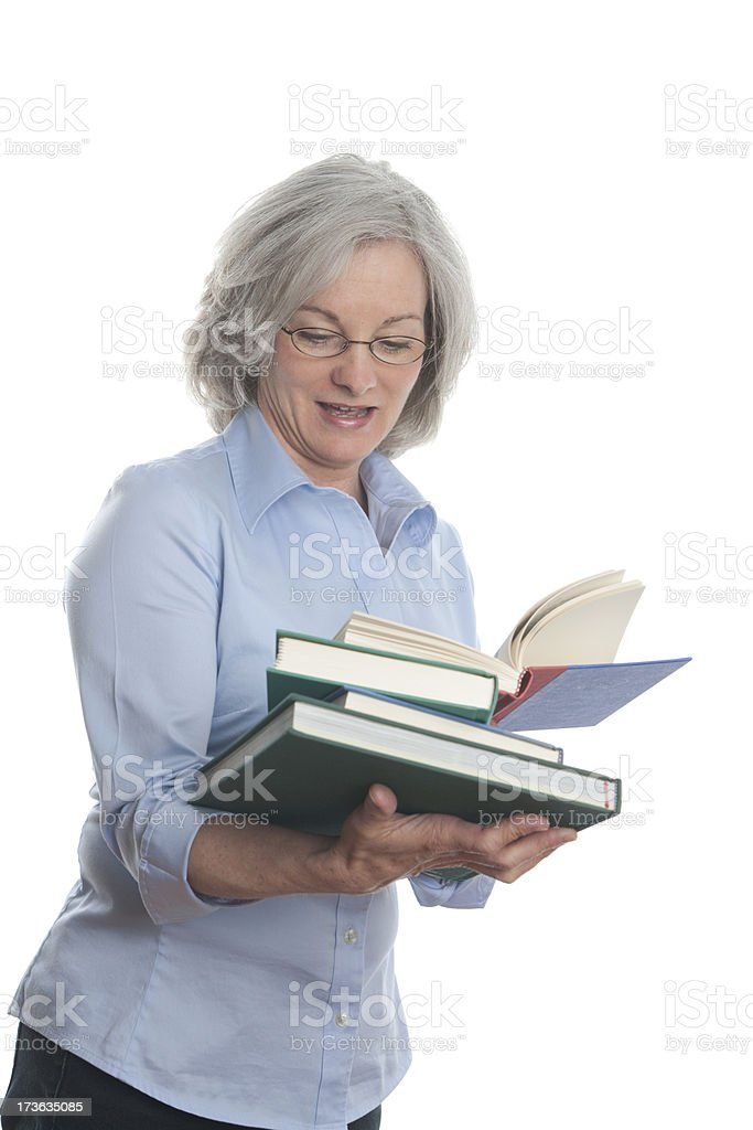Woman with Books (XXL) royalty-free stock photo