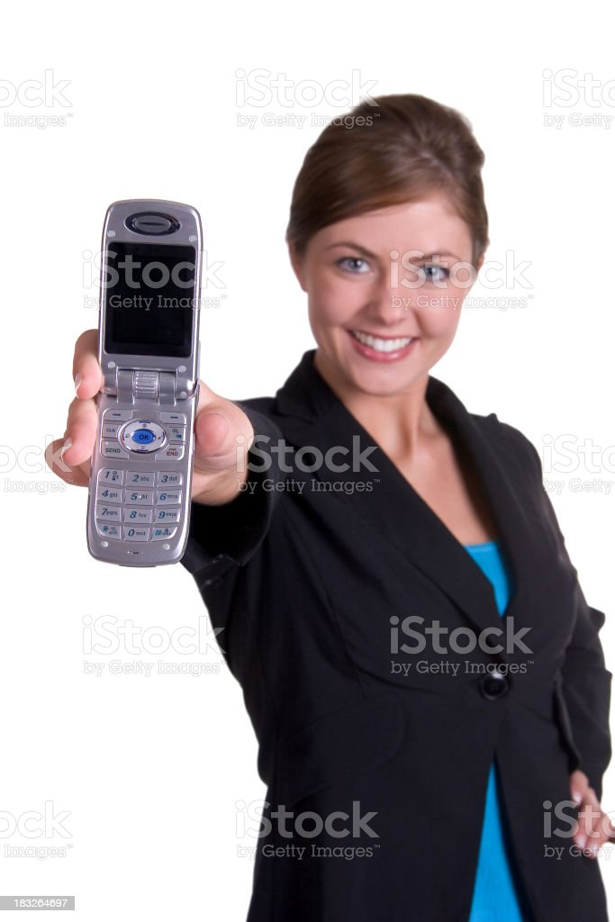 Woman with cell phone royalty-free stock photo